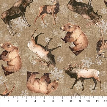 Winter Frost 20879-32 Animal Toss Taupe