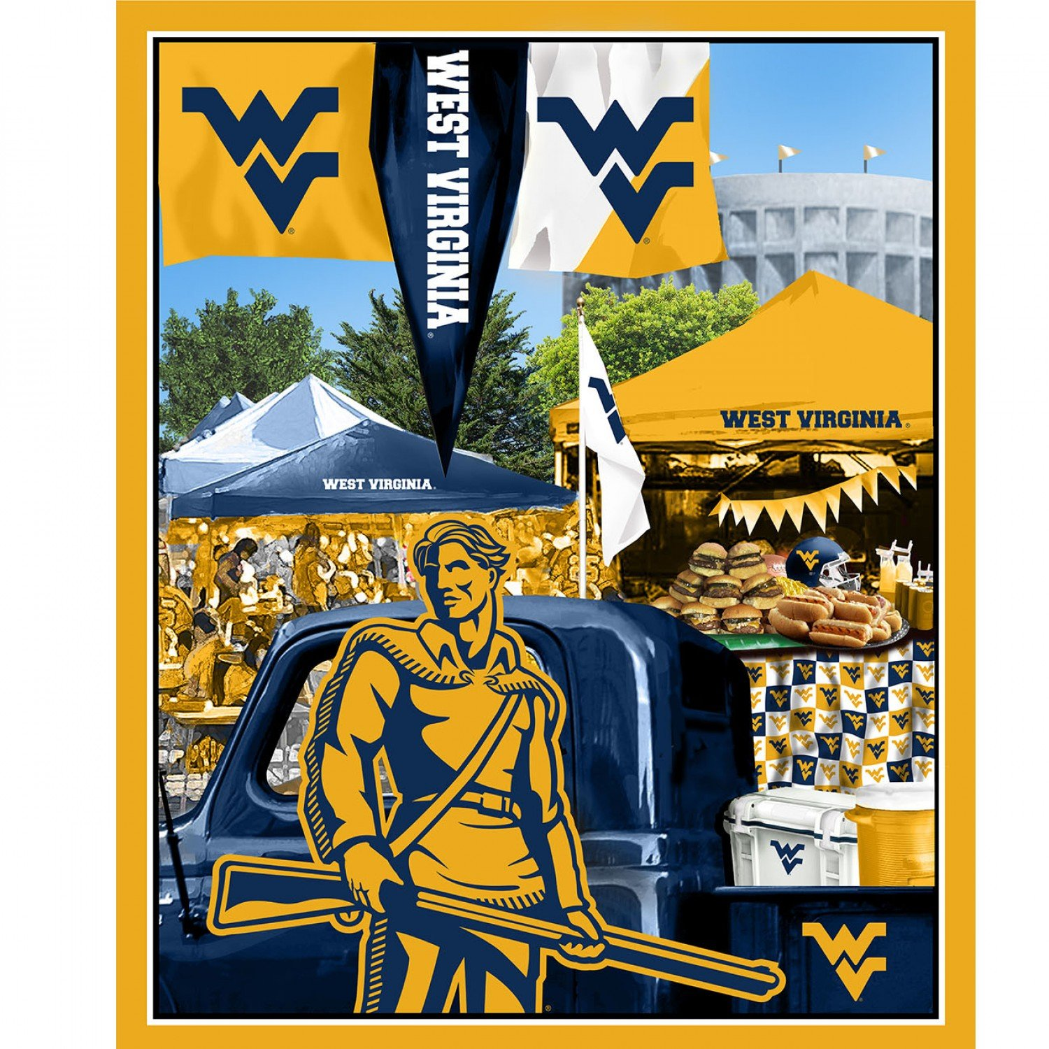NCAA West Virginia Mountaineers 1157 Panel