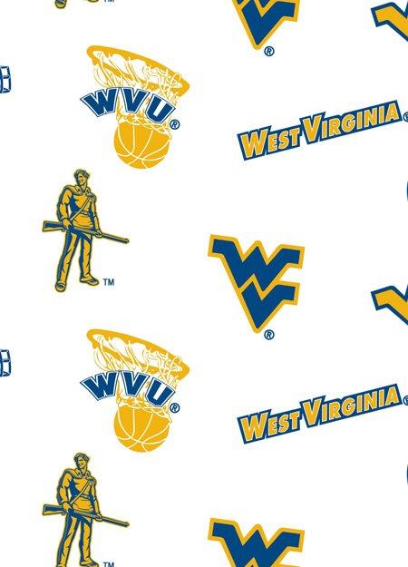 NCAA West Virginia Mountaineers 046 White
