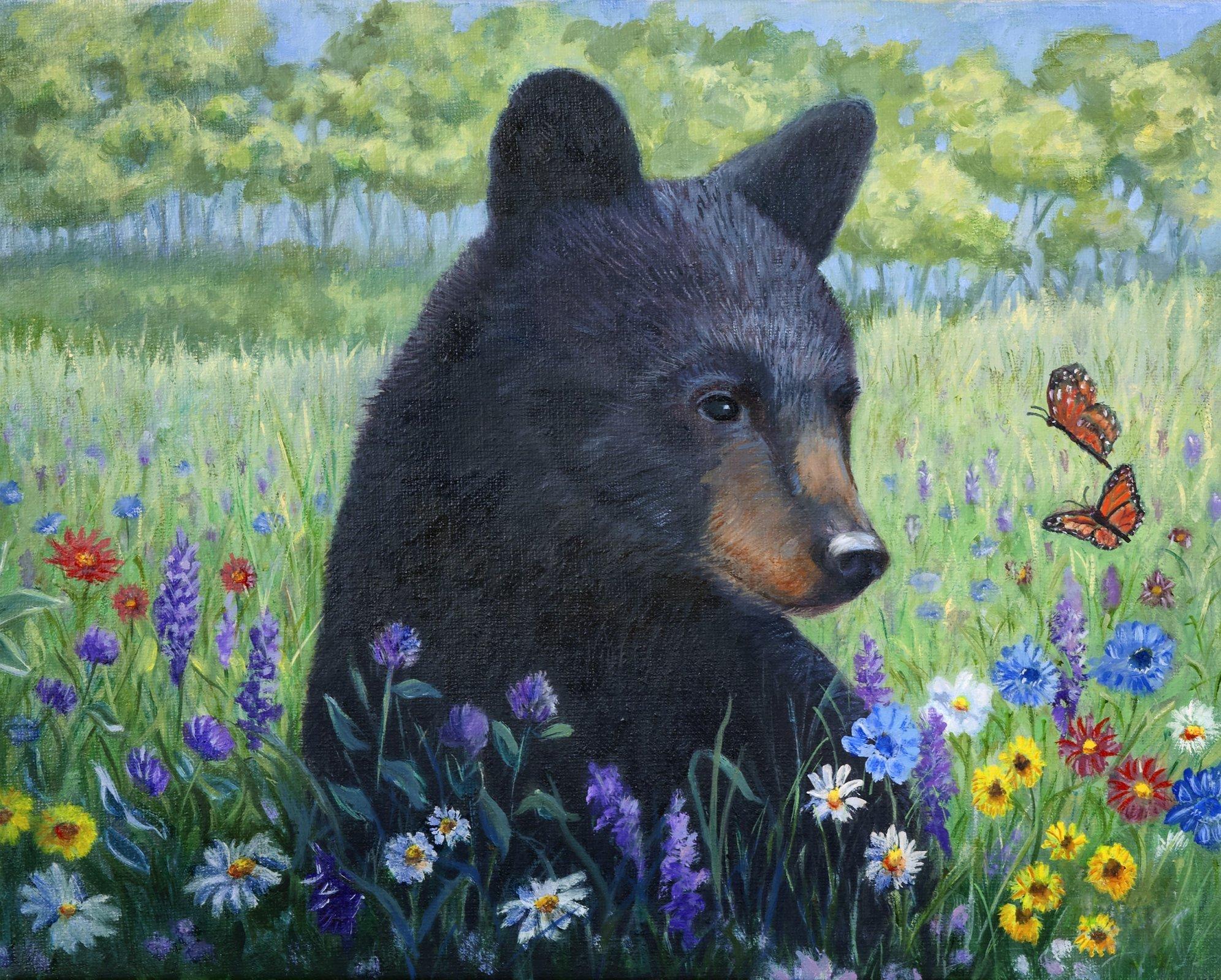 First Spring 3262 Black Bear Panel 36