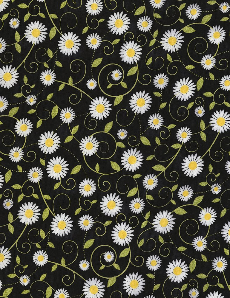 Daisy C5498 Vines Black - 15 YARDS