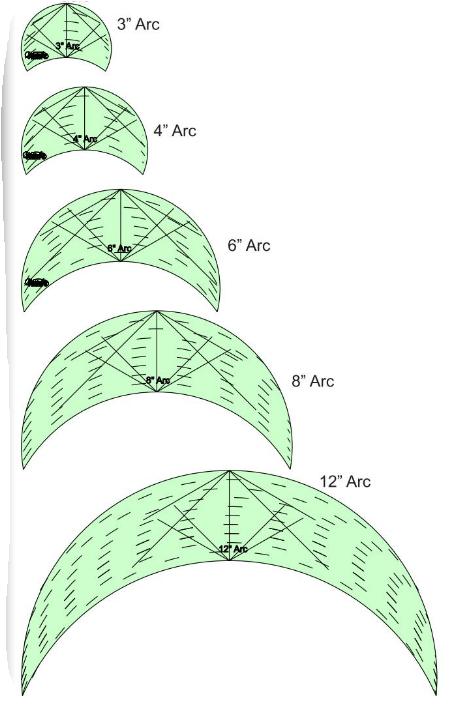 Westalee Arcs 5XA Template Set