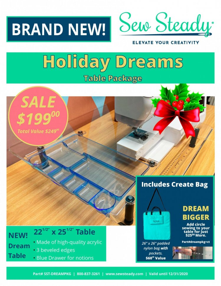 Sew Steady Holiday Dream Table