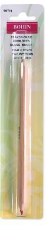Bohin Bi-colored pencil - white and red