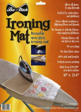 Bo-Nash Reusable Non Stick Ironing Mat 10in x 13-5/8in