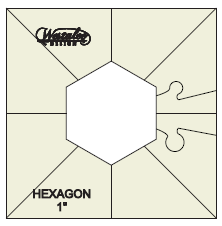 Westalee Simple Hexagon Template Set