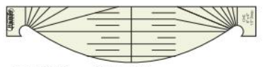 Westalee Curved Cross Hatch CHC-3 Template
