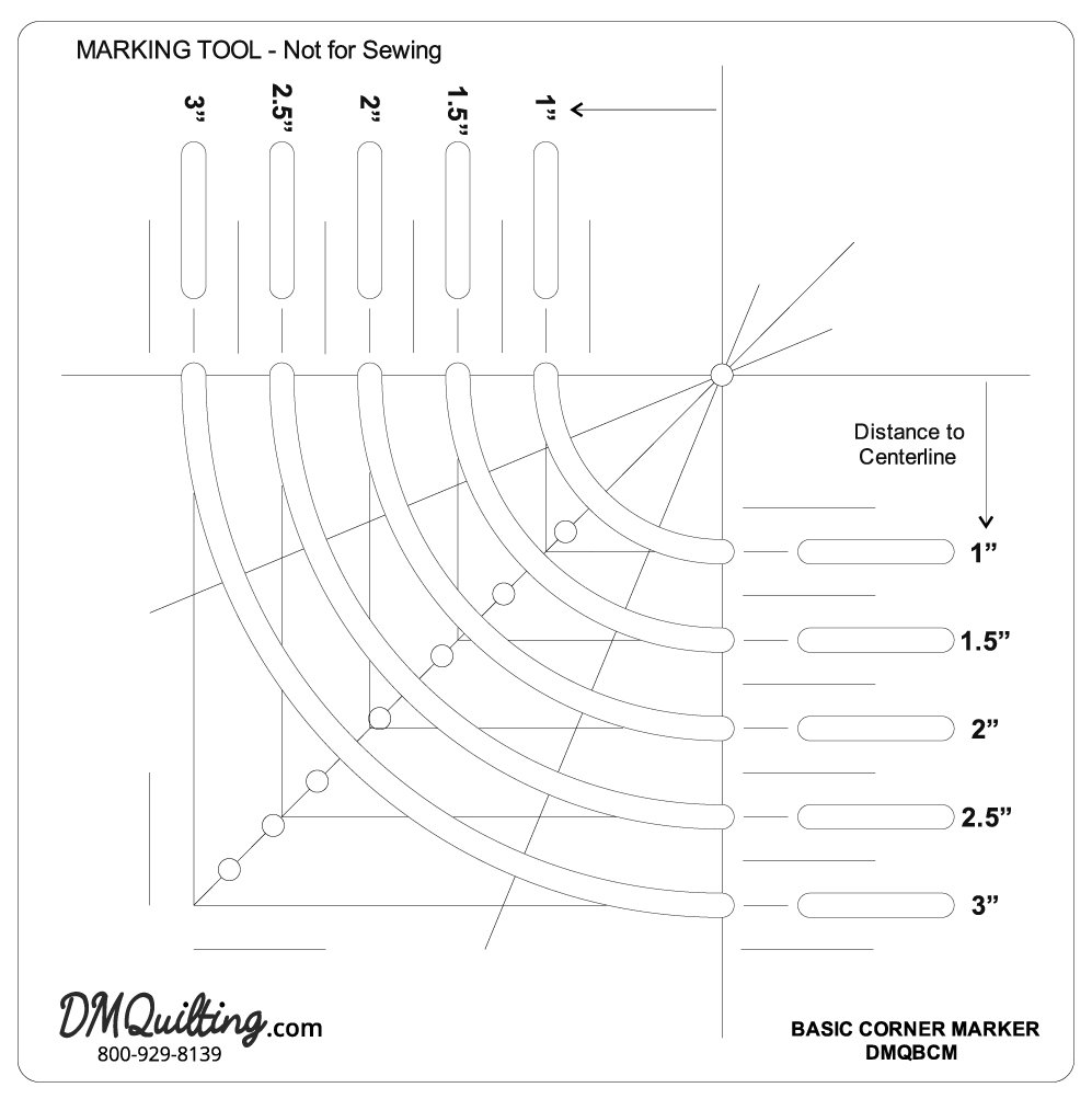 DM Quilting - Basic Corner Marker Tool