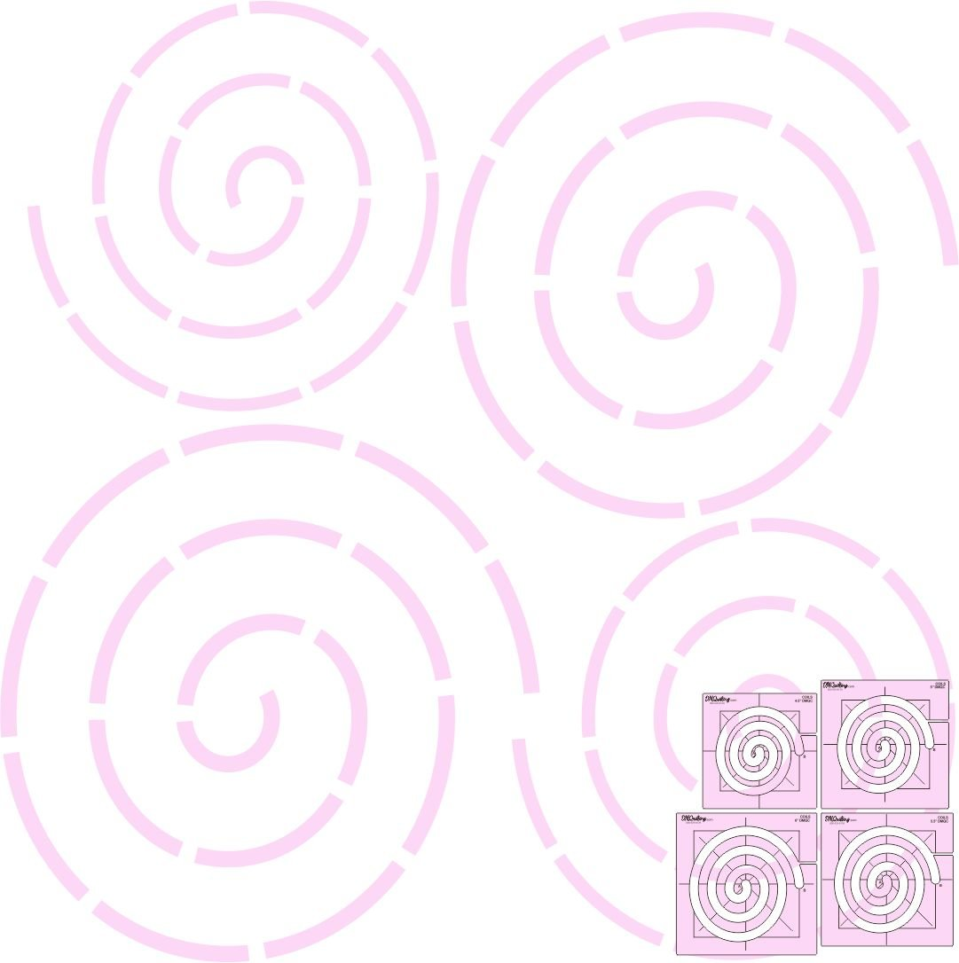 DM Quilting Coil Template Set - 4 sizes