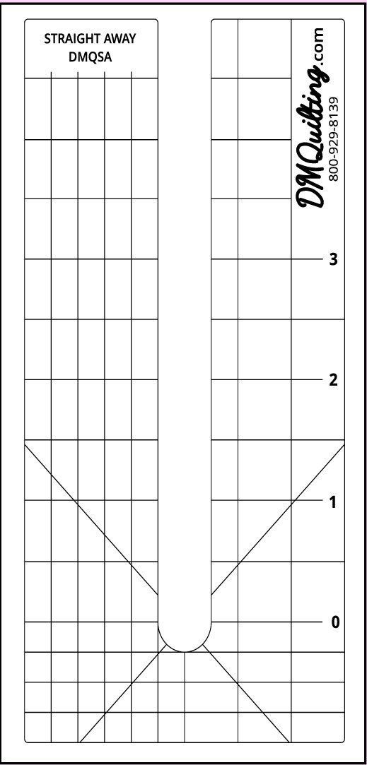 DM Quilting Straight Away Ruler