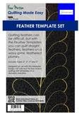 Westalee Feather Template Set - 4 sizes