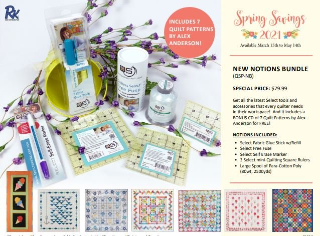 Quilters Select Spring New Notions Bundle