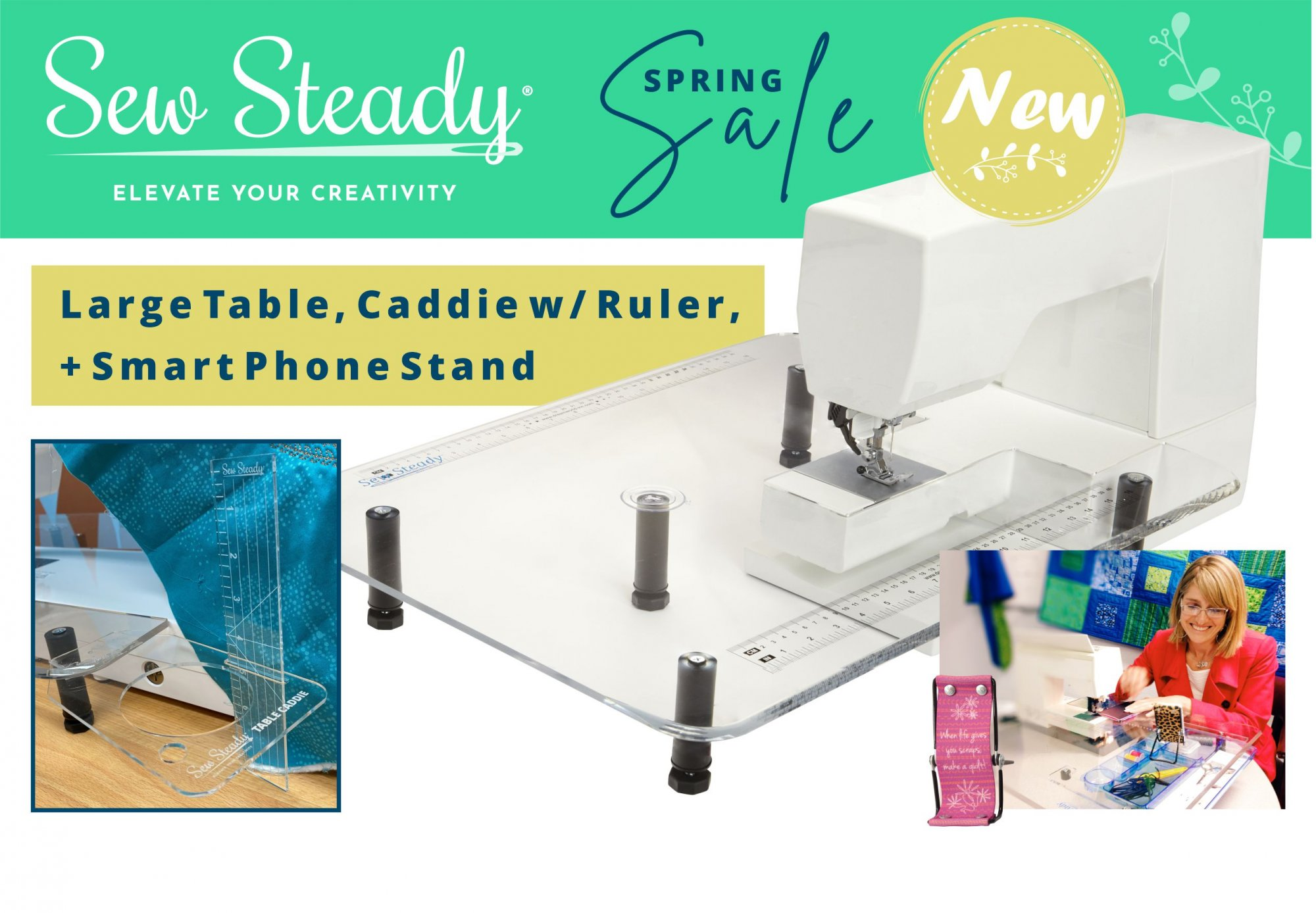 Sew Steady Large Table Spring Sale Package