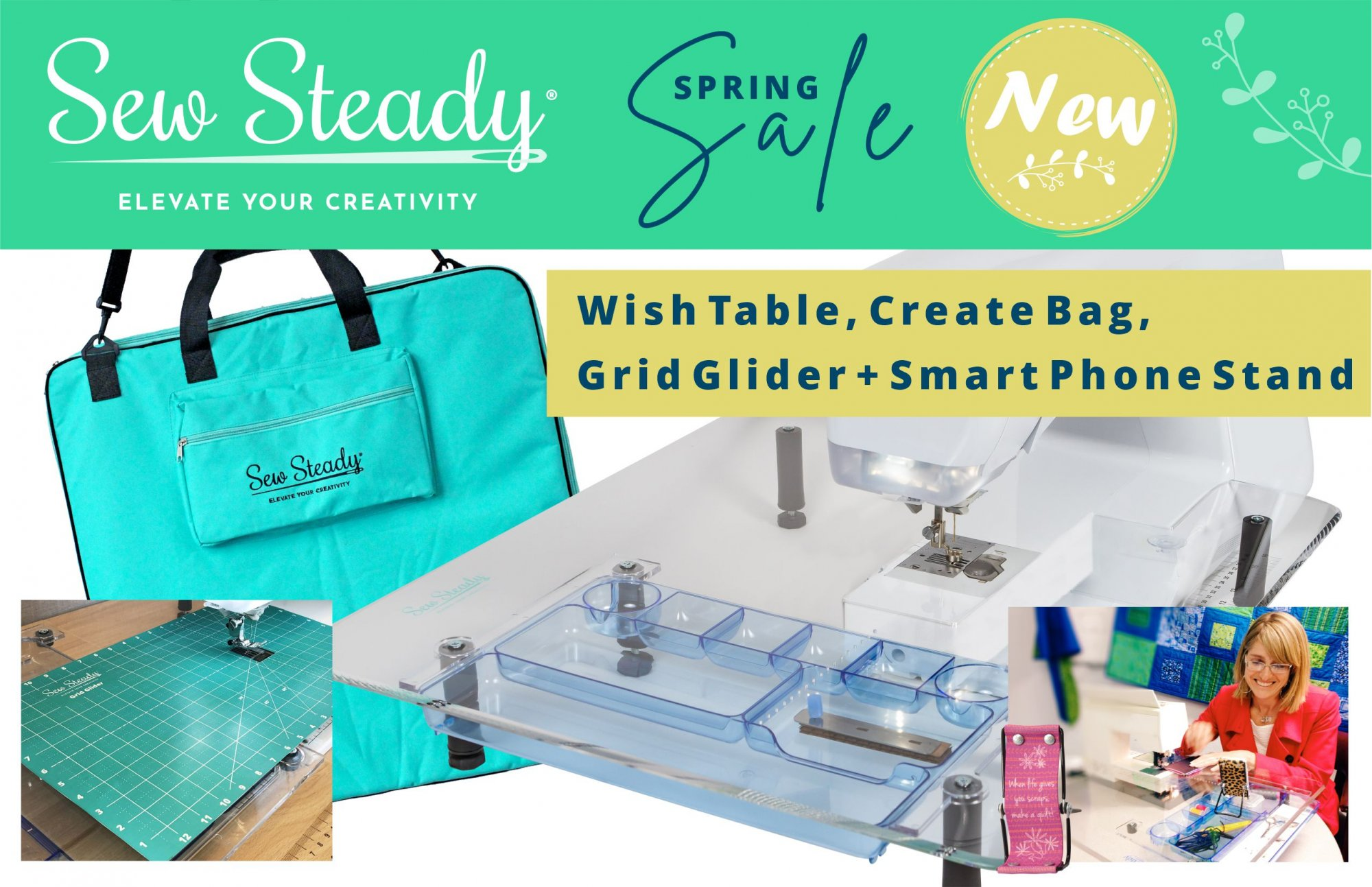 Sew Steady Spring Wish Table Package