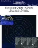 Westalee Circles On Quilts Set 3 Template Set