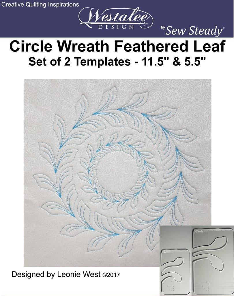 Westalee Feathered Leaf Circle Wreath Template Set