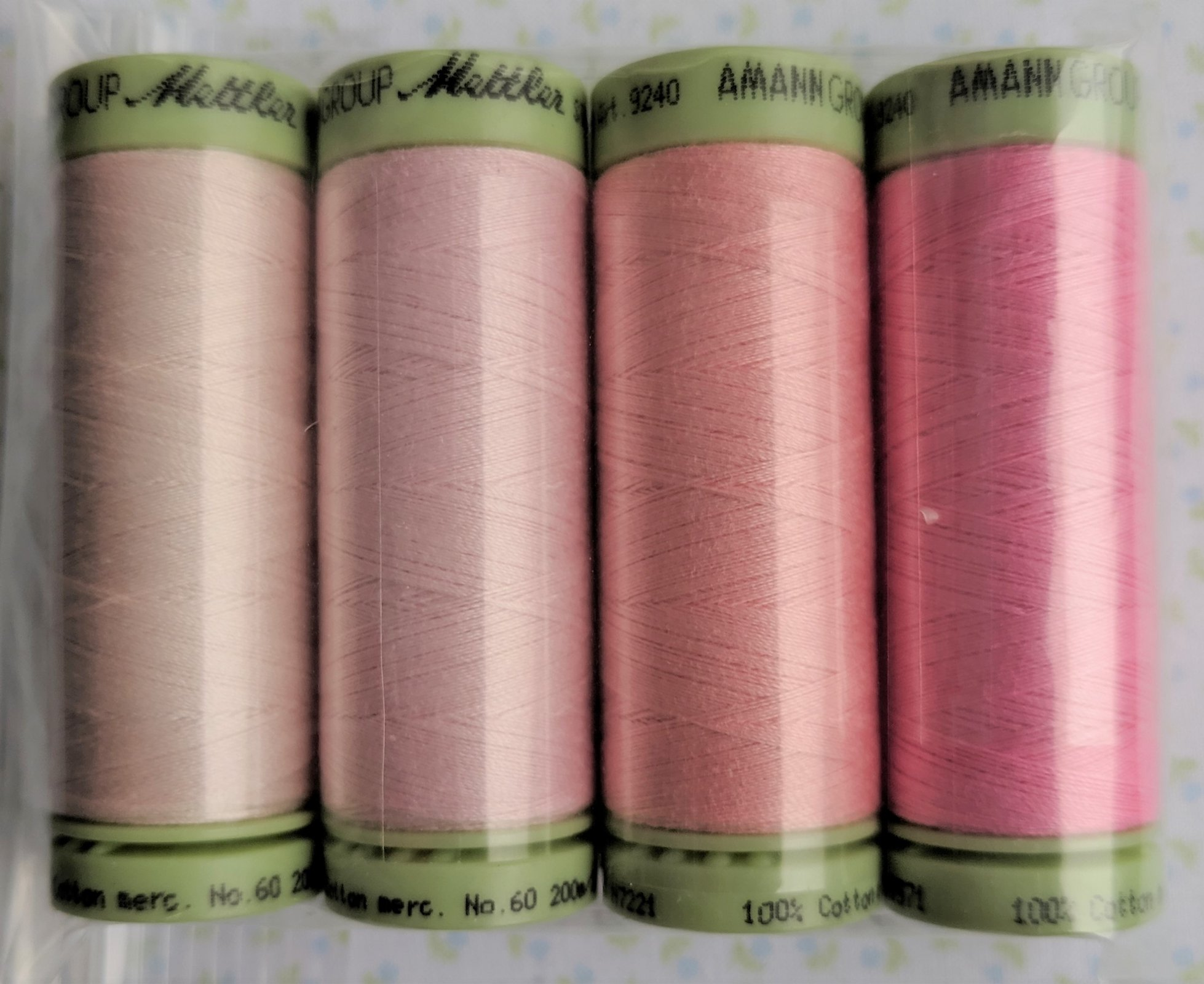 Cotton Thread Set Heirloom Pinks Mettler 60