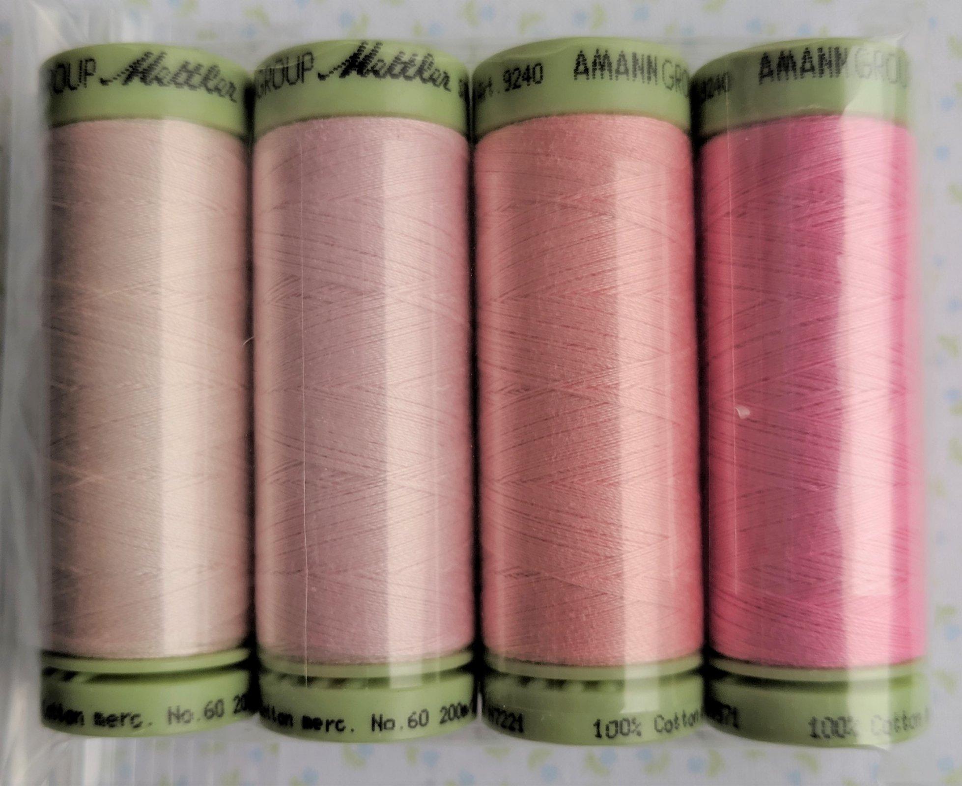 Cotton Thread Set Heirloom Pinks Mettler 60