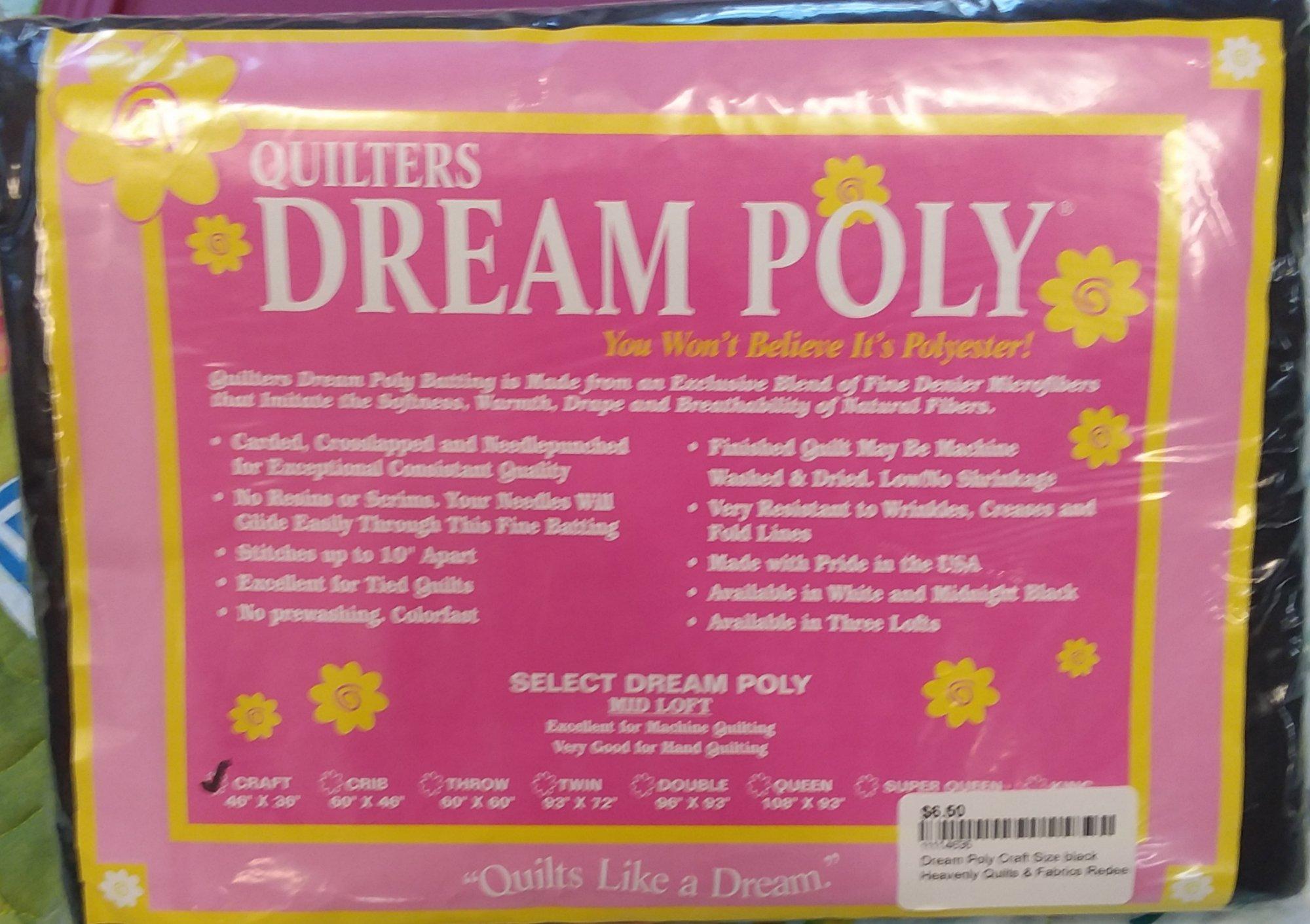 Dream Poly Craft Size black Batting