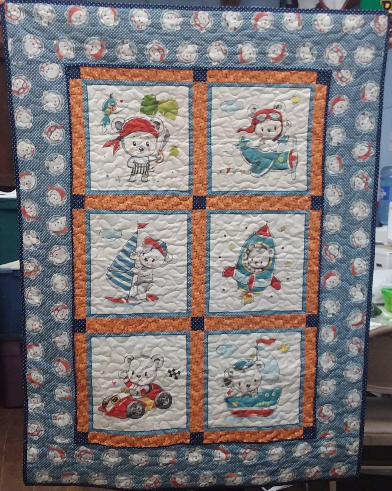 Teddy's Adventure Crib Blanket kit