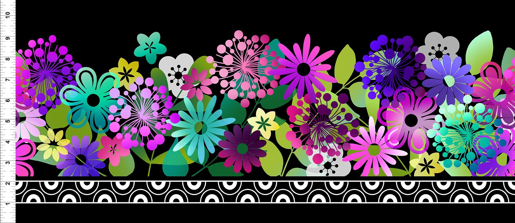 A Groovy Garden - Border Purple