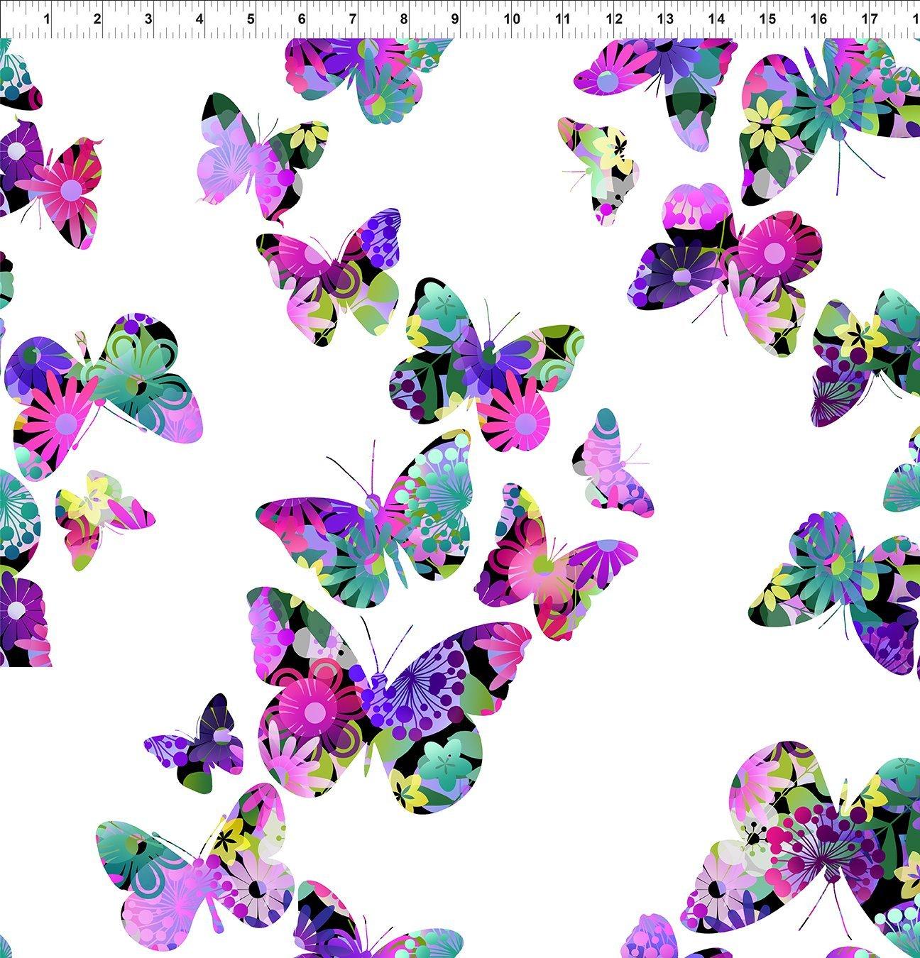 A Groovy Garden - Butterflies-Purple