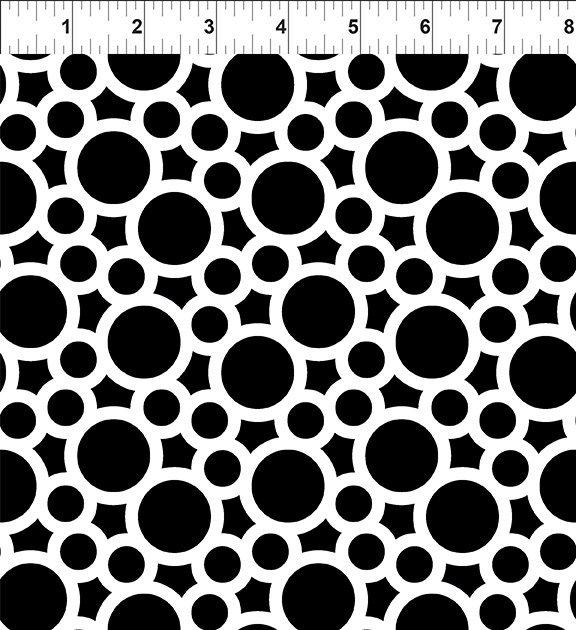 A Groovy Garden - circles black