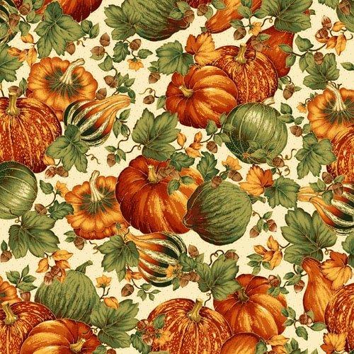 Abundance Large Gords And Pumpkin Print 016542749451