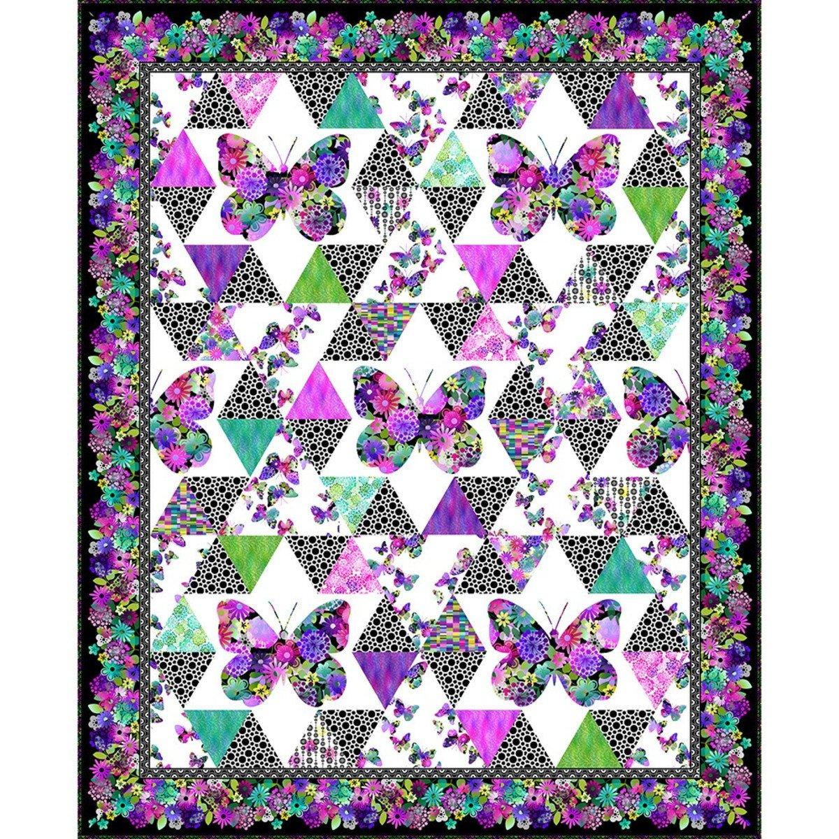 A Groovy Garden Butterfly Quilt Pattern