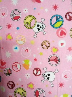 Flannel Print Peace Sign - Pink