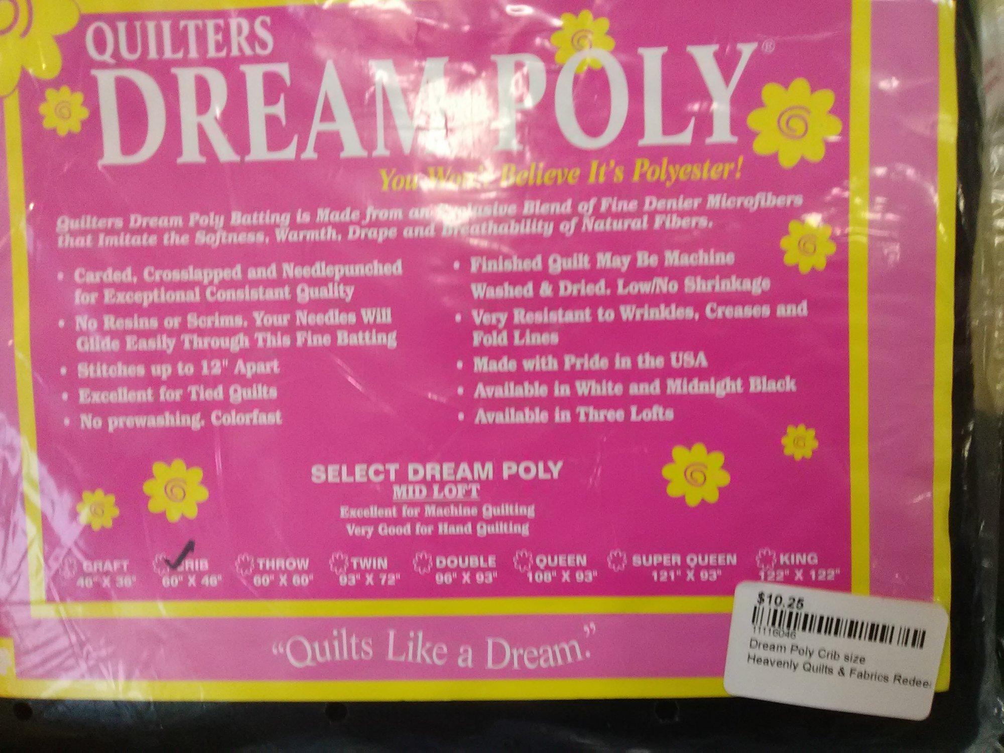 Dream Poly Crib size Batting