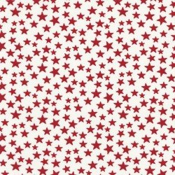 Red Stars White Background