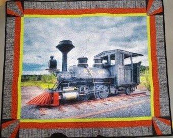 Train Digital quilt Kit