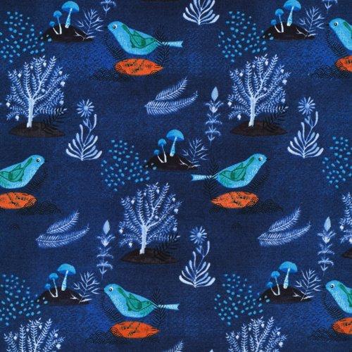 Moody Blues Pomegranate Bird - Navy