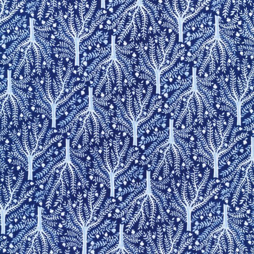 Moody Blues Sashiko Tree-Navy