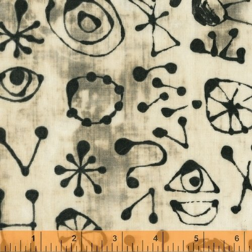Art History 101 - Miro Glyphs - White -50418-19