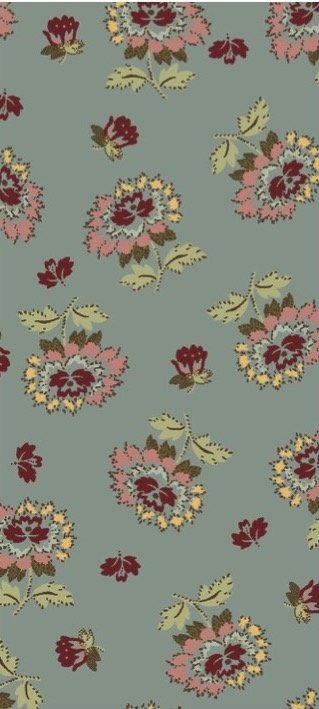 EQP Remembering Tomorrow 1801-03 Wild Roses - Stone Blue