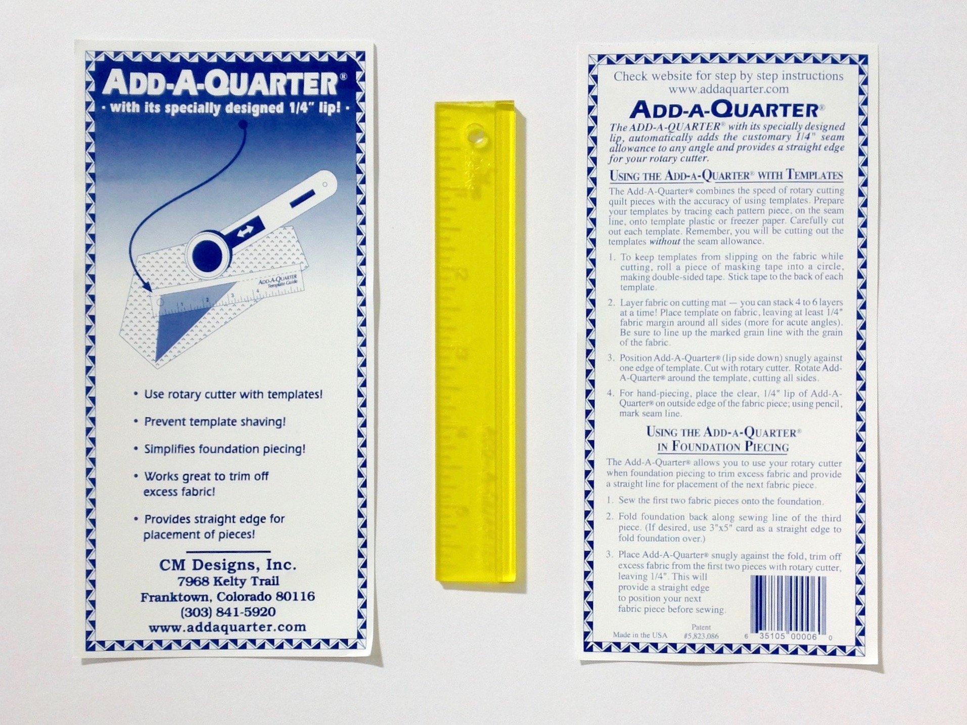 Add-A-Quarter Ruler 1 x 6 inch