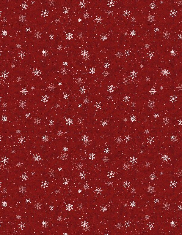 Evergreen Farm Snowflakes Red