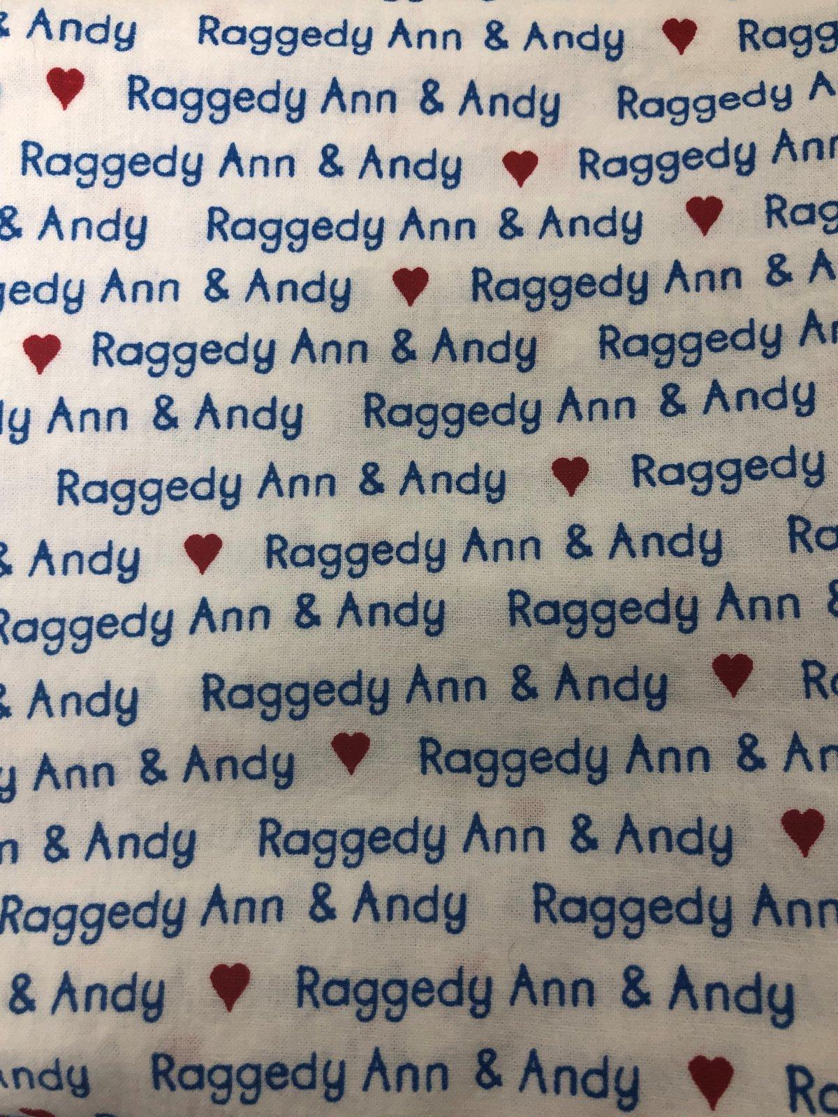 16 Remnant Daisy Kingdom Vintage Raggedy Ann Words on White