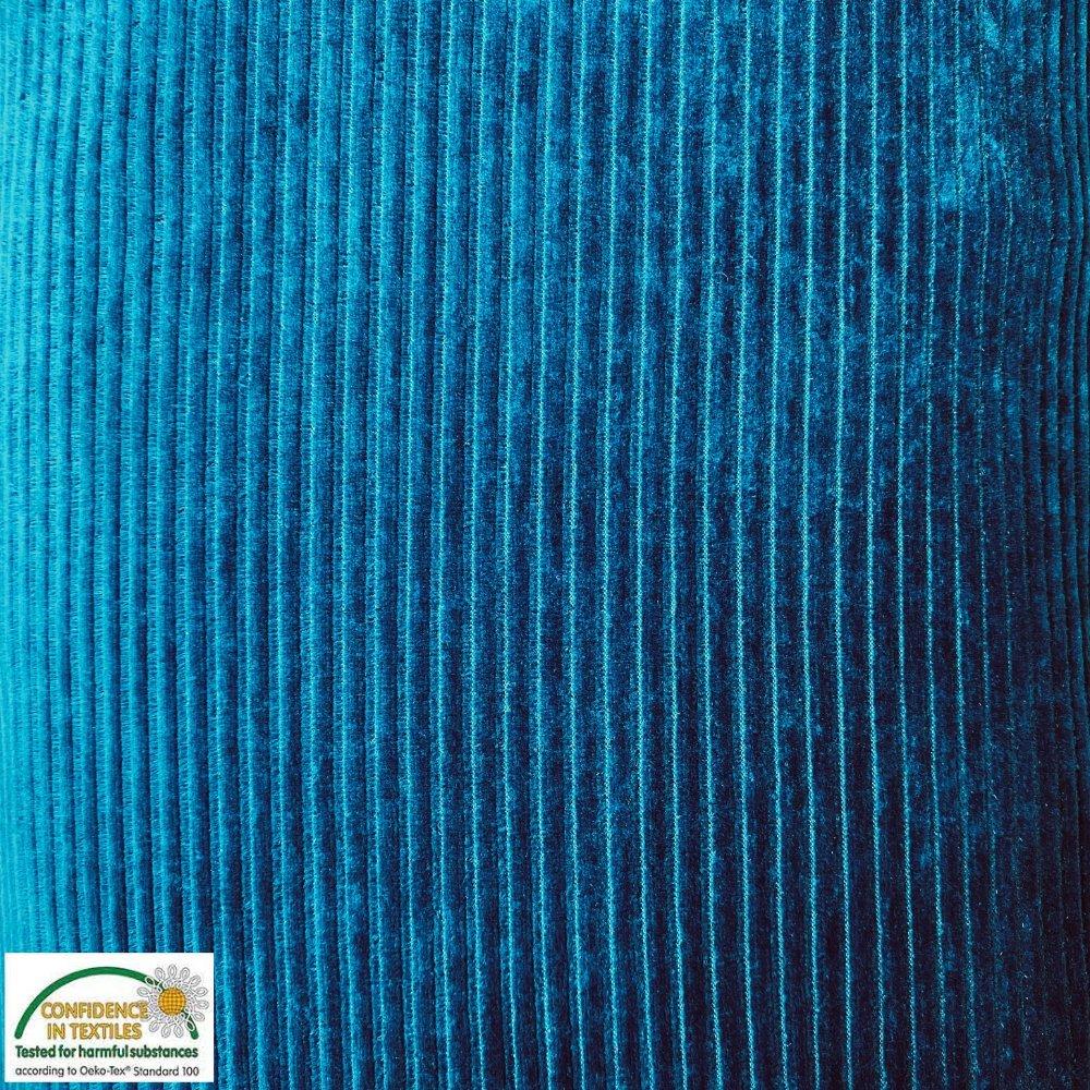 Avalana Velour Corduroy Knit Deep Teal Blue