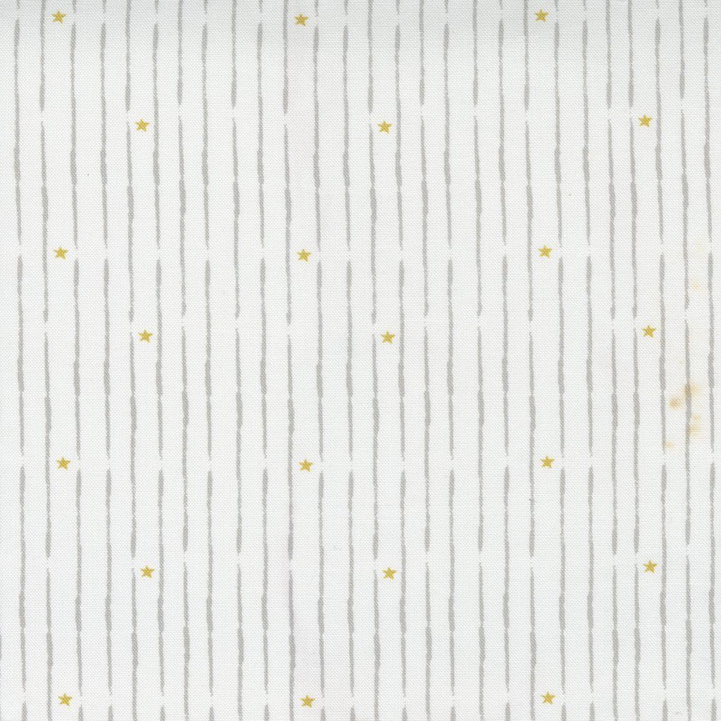 Little Ducklings Broken Star Stripe White PREORDER