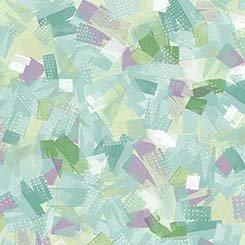 Confetti Blossoms Seafoam Brushstrokes