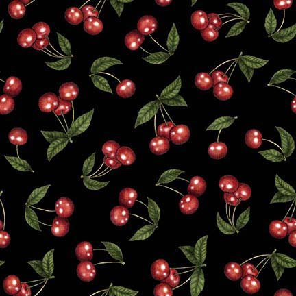 Home Sweet Home - Cherries Black