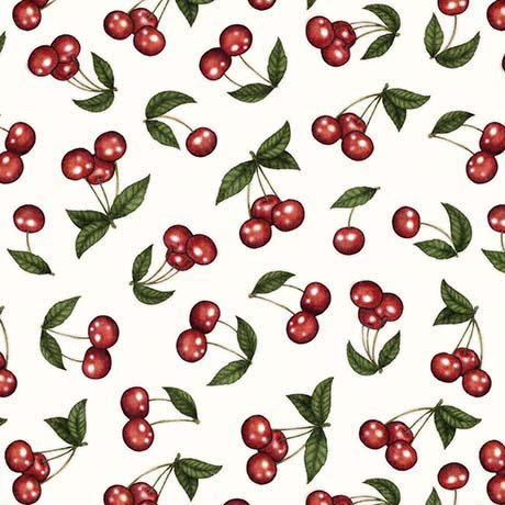 Home Sweet Home - Cherries White