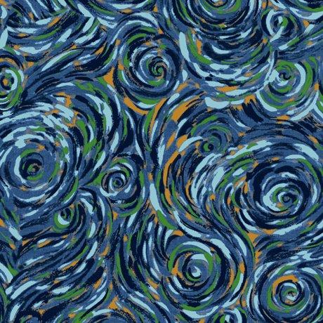 Delia Swirl Dark Blue