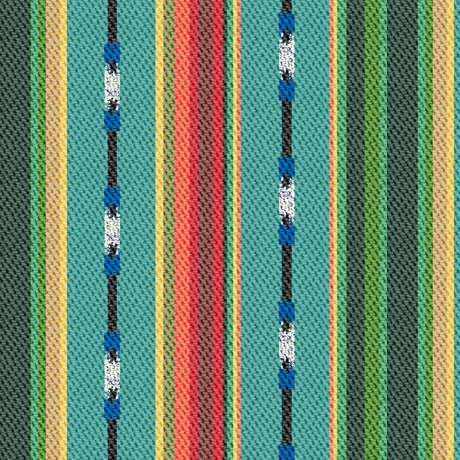 Dream Weaver Textured Serape Stripe Turquoise