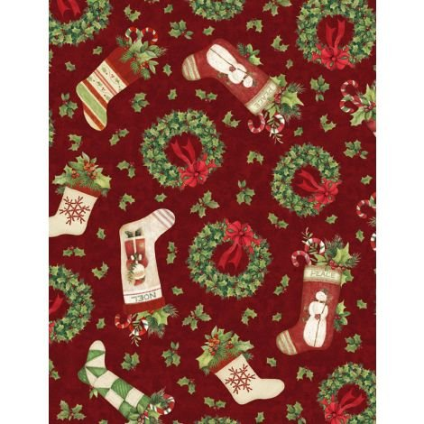 Evergreen Farm Tossed Holiday Red