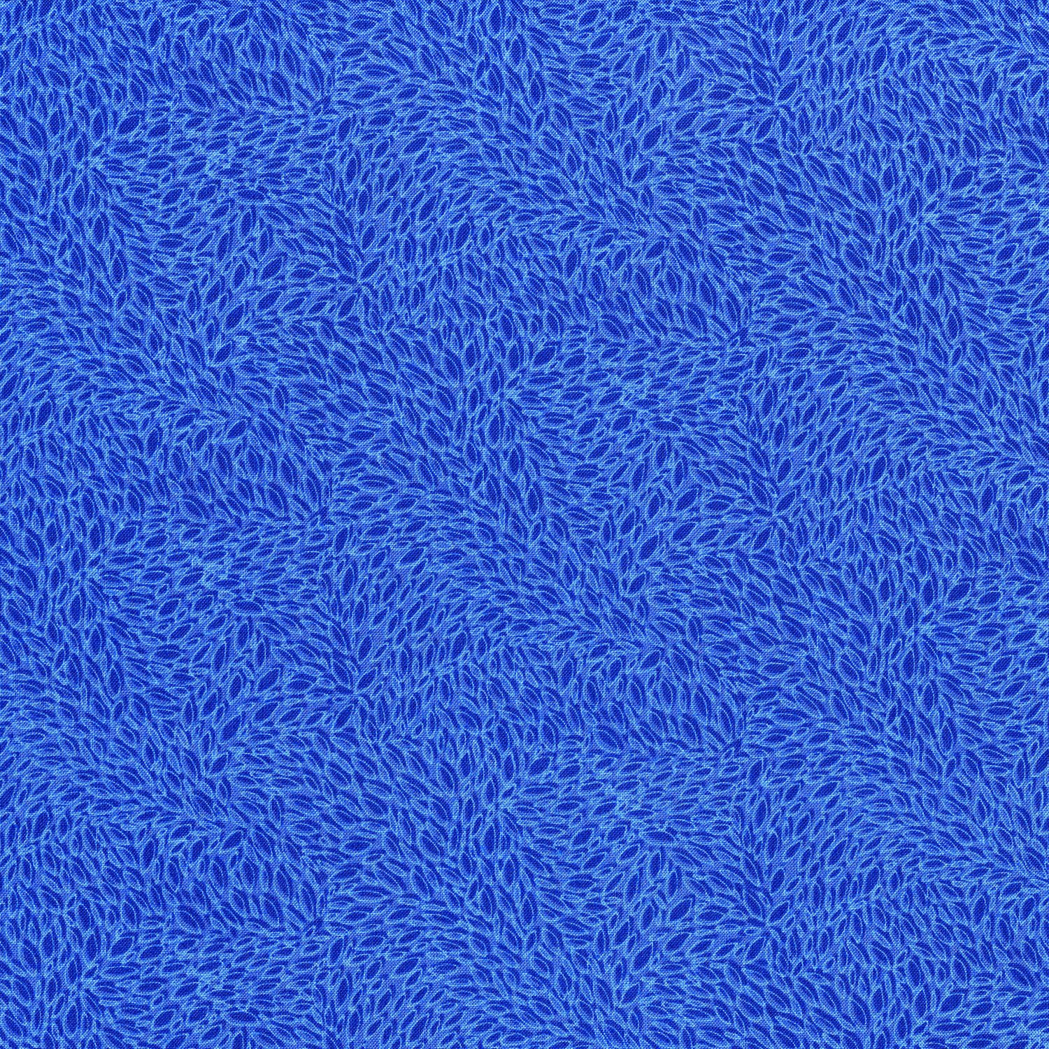 1.875 yd remnant Hopscotch Leaves In Motion Sapphire