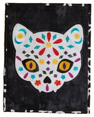 Cat Sugar Skull Wall Hanging Kit